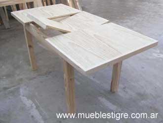 Mesas de pino - Como hacer una mesa extensible ...